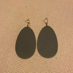 Jewelry - Gray Leather Earrings